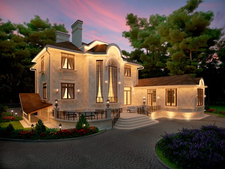 Фасад главного дома: Дома в . Автор – Y&S ARCHITECTURE – INTERIOR DESIGN
