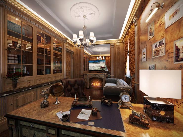 Кабинет: Рабочие кабинеты в . Автор – Y&S ARCHITECTURE – INTERIOR DESIGN