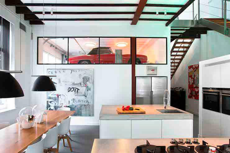Schelpstraat Den Haag: moderne Keuken door Architectenbureau Filip Mens