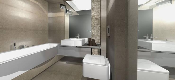Projekt mieszkania Warszawa: styl , w kategorii Łazienka zaprojektowany przez Architekt wnętrz Ilona Sobiech