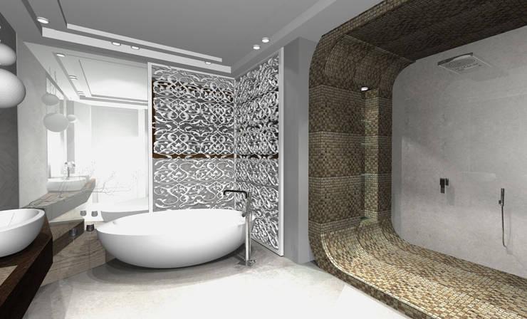 http://ilonasobiech.pl/: styl , w kategorii Łazienka zaprojektowany przez Architekt wnętrz Ilona Sobiech
