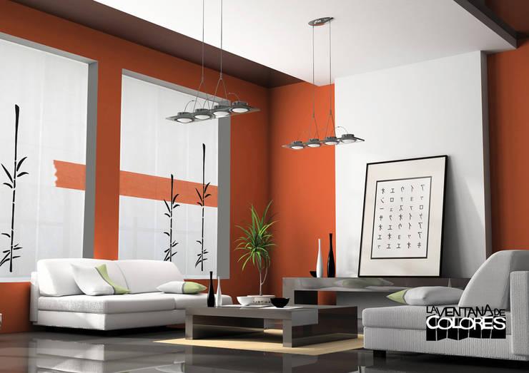 Ambientes actuales de La Ventana de Colores: Salones de estilo moderno de LA VENTANA DE COLORES