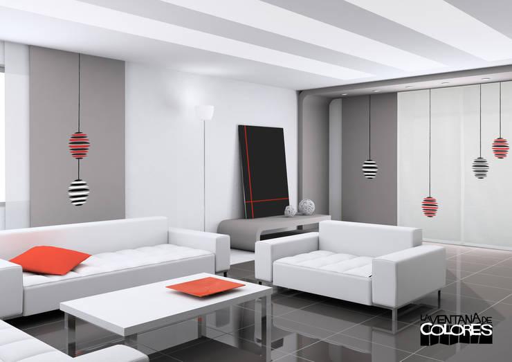 Paneles Japoneses: Edificios de oficinas de estilo  de LA VENTANA DE COLORES