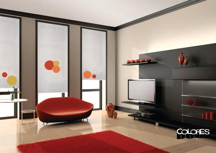 Living room by LA VENTANA DE COLORES