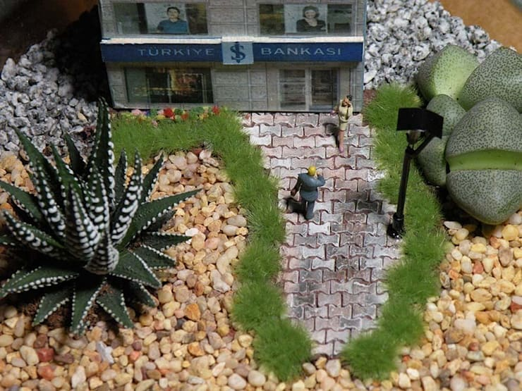 MyHobbyMarket & Peri Bahçem – Kurumsal Minyatür Bahçe :  tarz Ofis Alanları & Mağazalar