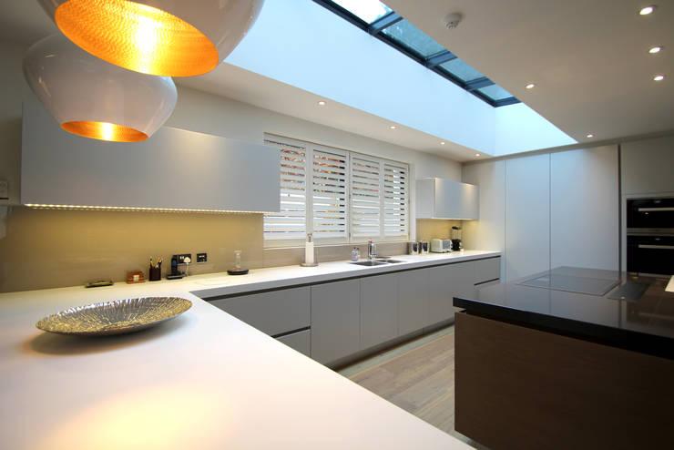 The kitchen:  Kitchen by Hale Brown Architects Ltd
