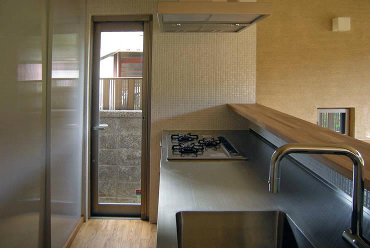 上座の家 ~田園ビュー~: 環境創作室杉が手掛けたキッチンです。