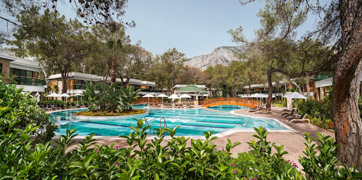 Nota Tasarım Peyzaj Mimarlığı Ofisi – Lagoon Villas Pool:  tarz Bahçe