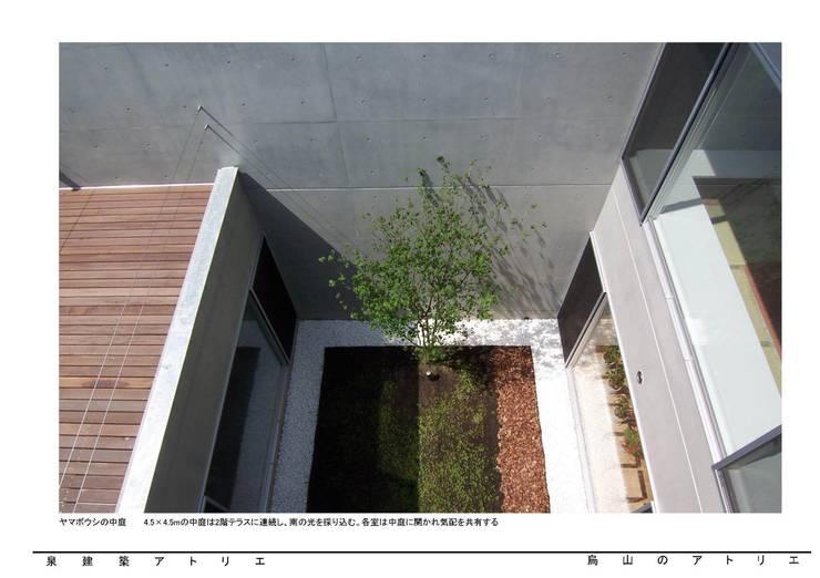 烏山のアトリエ: 泉建築アトリエ(izumi architects) が手掛けた庭です。,