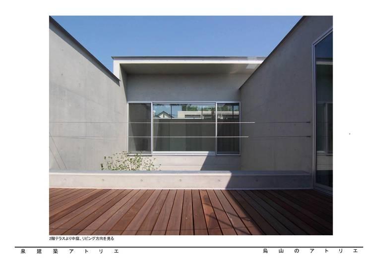 烏山のアトリエ: 泉建築アトリエ(izumi architects) が手掛けたテラス・ベランダです。,