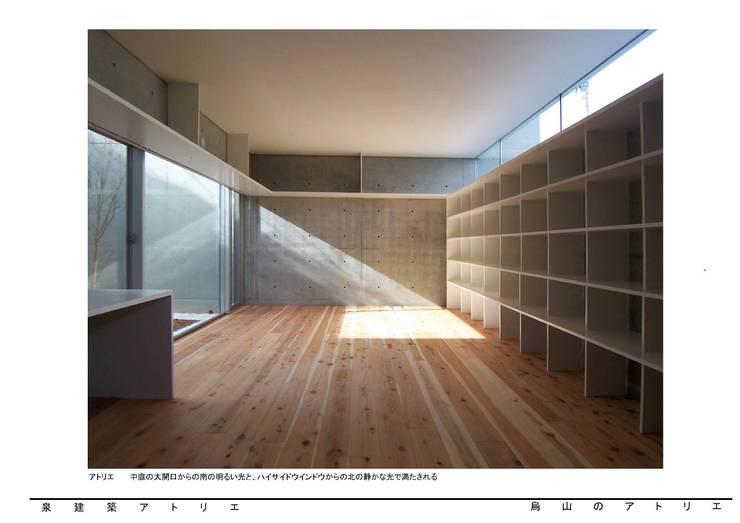 烏山のアトリエ: 泉建築アトリエ(izumi architects) が手掛けた和室です。,