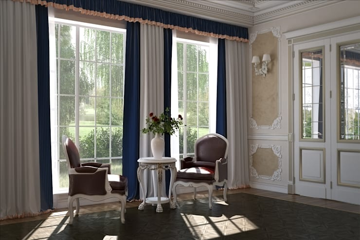 Спальня в классическом стиле: Спальни в . Автор – Студия архитектуры и дизайна ДИАЛ