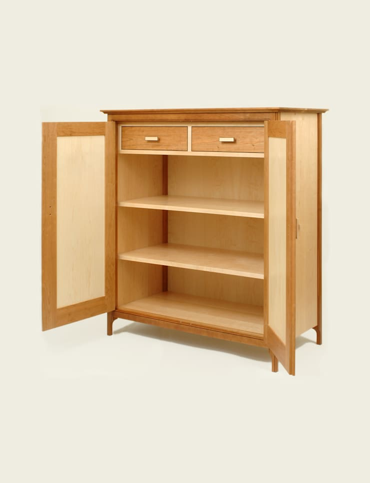 Cupboard with internal drawers - Doors open:  Living room by Martin Greshoff Furniture