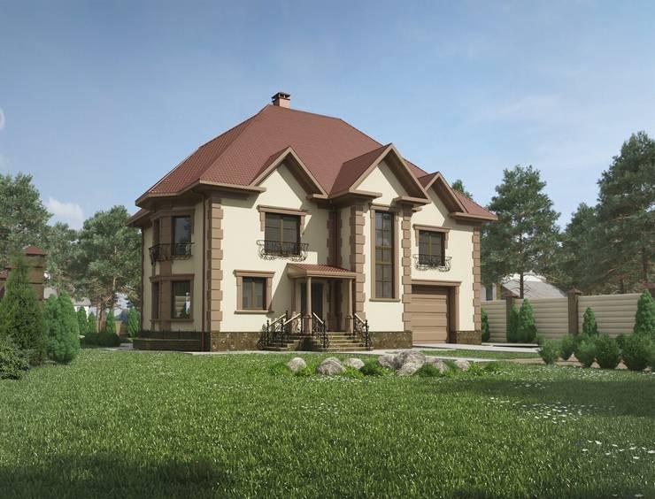Коттедж в классическом стиле: Дома в . Автор – Студия архитектуры и дизайна ДИАЛ