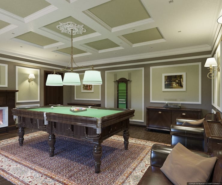 Бильярдная в классическом стиле: Гостиная в . Автор – Студия архитектуры и дизайна ДИАЛ