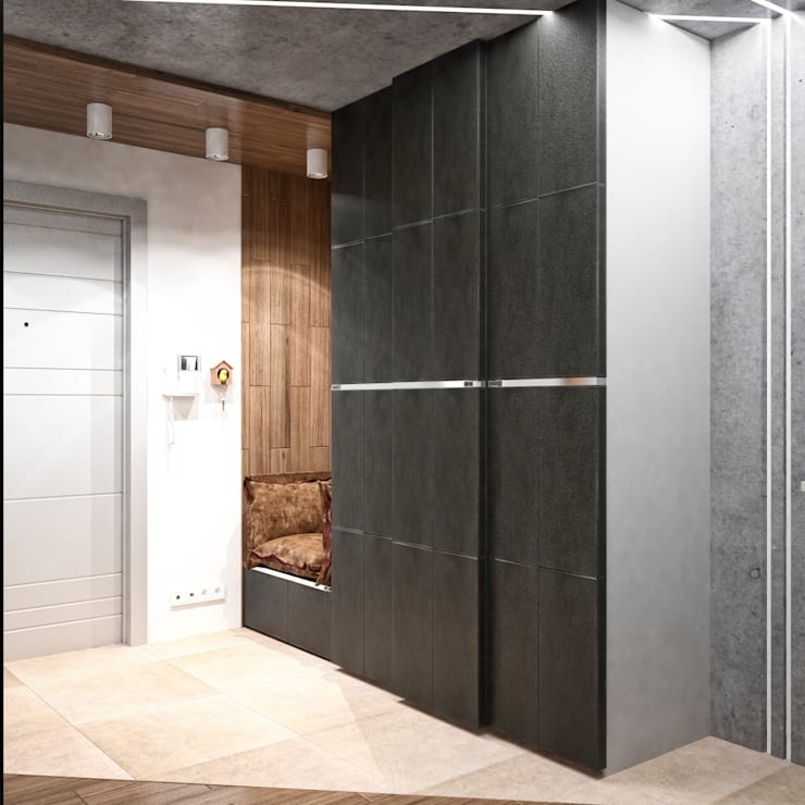Квартира в современном стиле: Коридор и прихожая в . Автор – Студия архитектуры и дизайна ДИАЛ