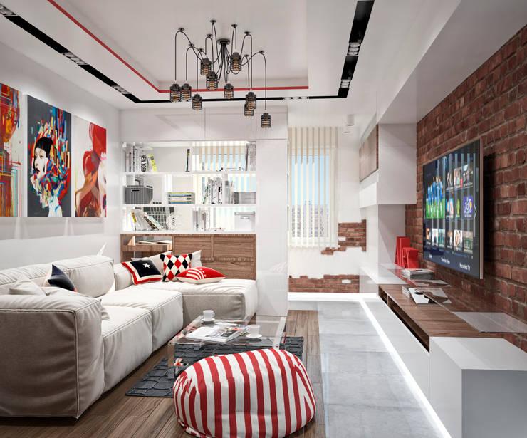 Квартира в современном стиле: Гостиная в . Автор – Студия архитектуры и дизайна ДИАЛ