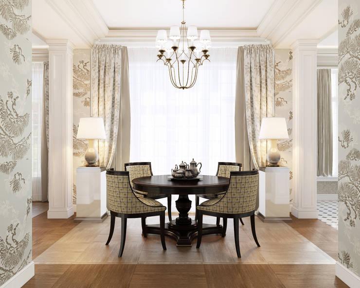 Столовая комната: Столовые комнаты в . Автор – Студия Искандарова