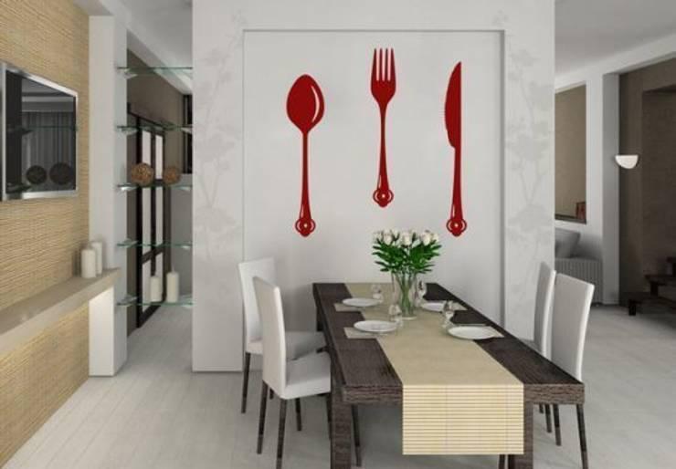 Sticker Mural - Couvert: Cuisine de style  par wall-art.fr