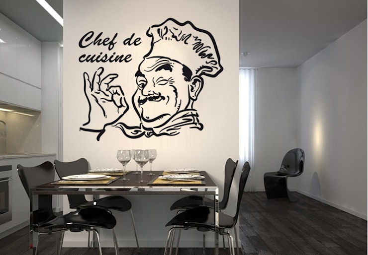 Chef de Cuisine: Cuisine de style de style eclectique par wall-art.fr