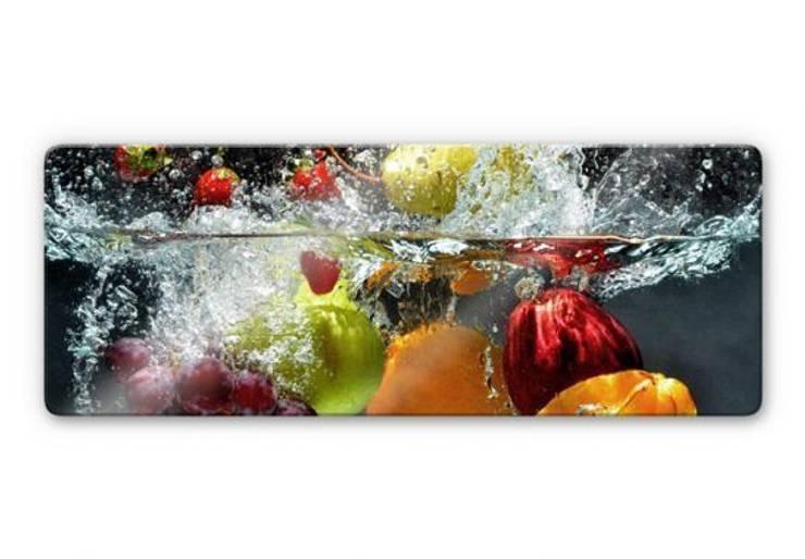 Tableau sur verre -Panorama  Fruits frais: Cuisine de style  par wall-art.fr