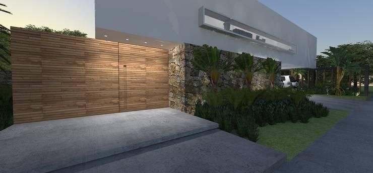 Casa JA: Jardins  por ZAAV Arquitetura