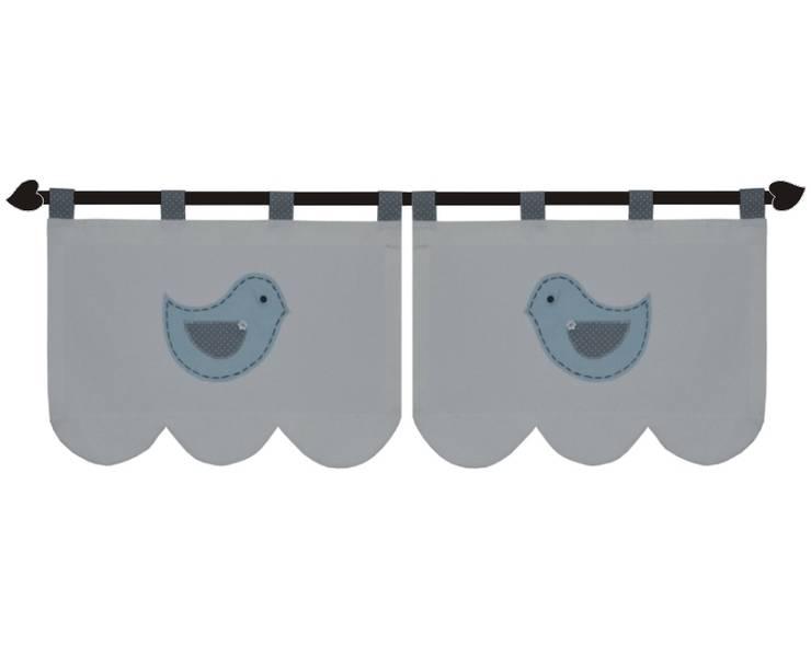 zazdrostki z błękitnymi ptaszkami: styl , w kategorii Okna i drzwi zaprojektowany przez Drewniany Guzik