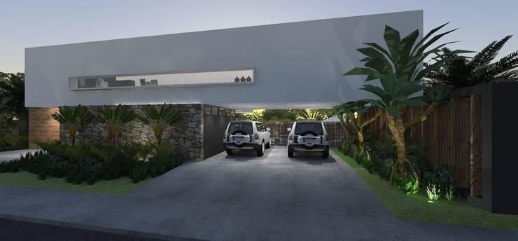 Casa JA: Garagens e edículas  por ZAAV Arquitetura