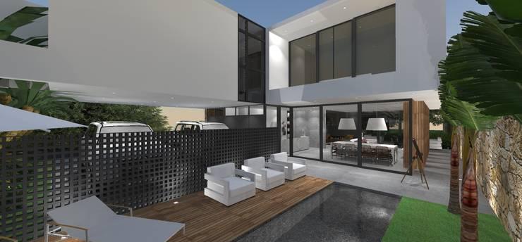 Casa JA: Piscinas  por ZAAV Arquitetura