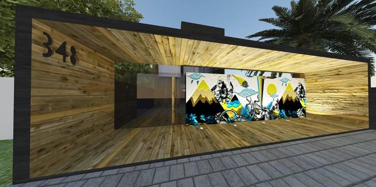 Casas de estilo  por ZAAV Arquitetura,