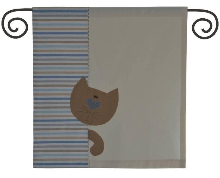 panel z kotem: styl skandynawskie, w kategorii Okna i drzwi zaprojektowany przez Drewniany Guzik