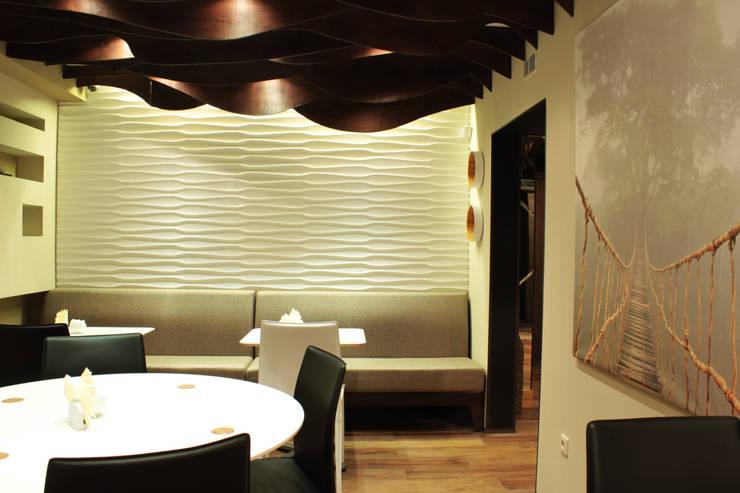 Интерьер сетевого суши-бара: Стены в . Автор – Apolonov Interiors