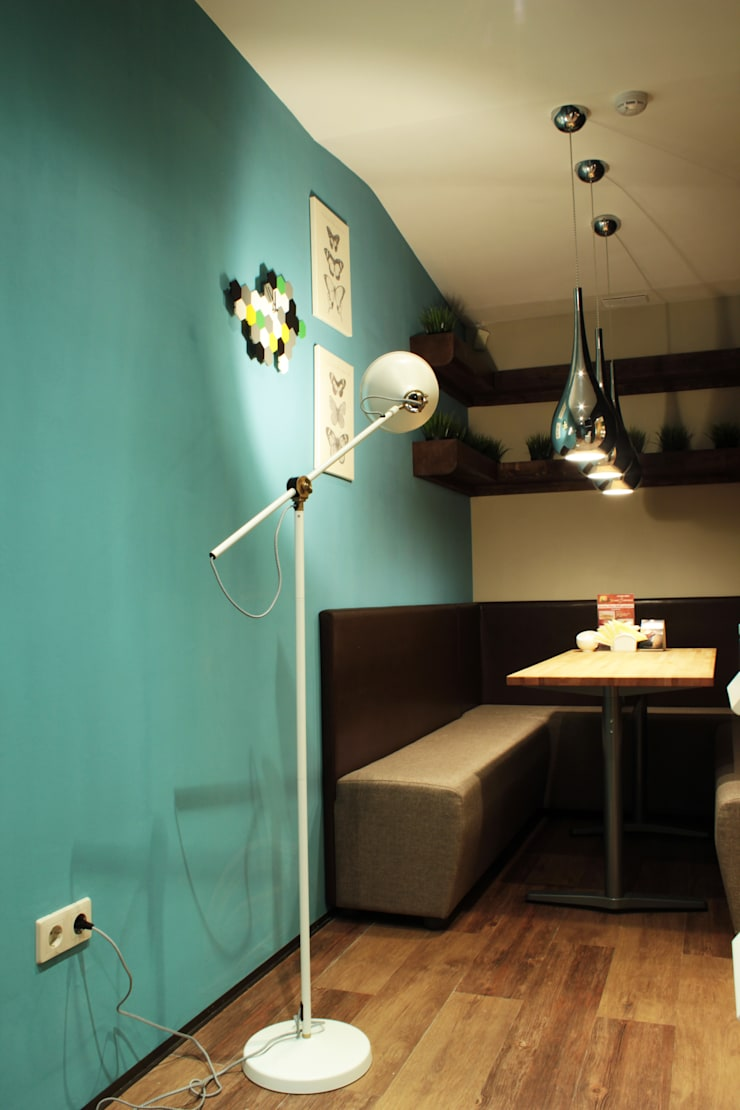 Интерьер сетевого суши-бара: Столовые комнаты в . Автор – Apolonov Interiors