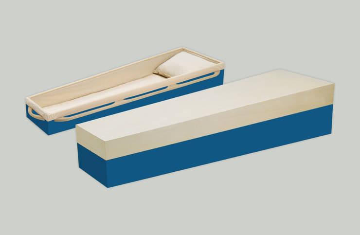 afscheidskist XILIA (azuurblauw/naturel): modern  door Afscheidskisten.nl, Modern