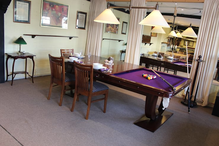 8 ft Ariel Convertible Dining Table with purple cloth:  Dining room by HAMILTON BILLIARDS & GAMES CO LTD