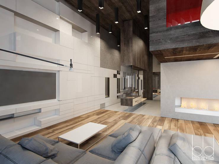 Частный дом на рублево-успенском шоссе: Гостиная в . Автор – BEINDESIGN, Минимализм