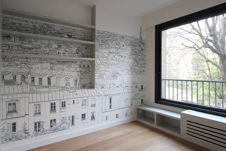 Dossier papier peint : Chambre de style  par Camille Hermand Architectures