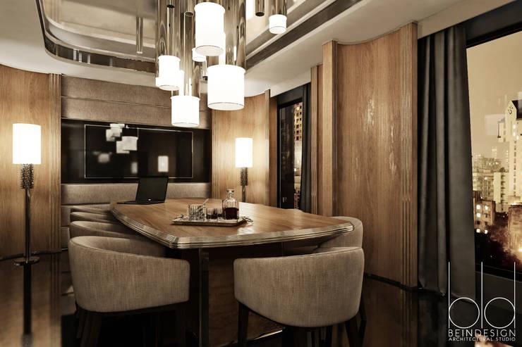 Переговорная комната, арт-деко: Гостиницы в . Автор – BEINDESIGN