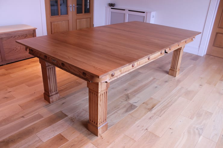 7 ft Fabio Convertible Diner, in the dining position:  Dining room by HAMILTON BILLIARDS & GAMES CO LTD