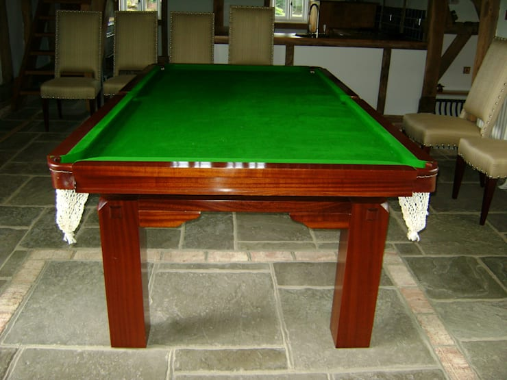 8 ft Friedman Convertible Dining Table with green cloth.:  Dining room by HAMILTON BILLIARDS & GAMES CO LTD