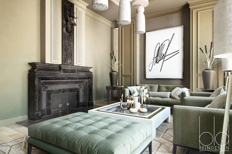 Projekty,  Salon zaprojektowane przez BEINDESIGN