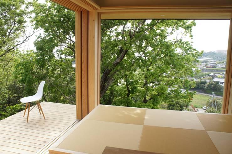 Projekty,  Taras zaprojektowane przez キリコ設計事務所