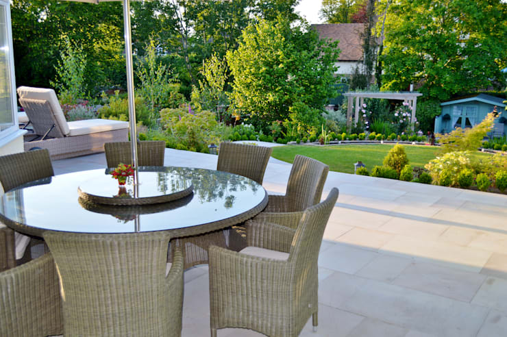 Smooth Natural Sandstone Paving:  Terrace by Unique Landscapes,