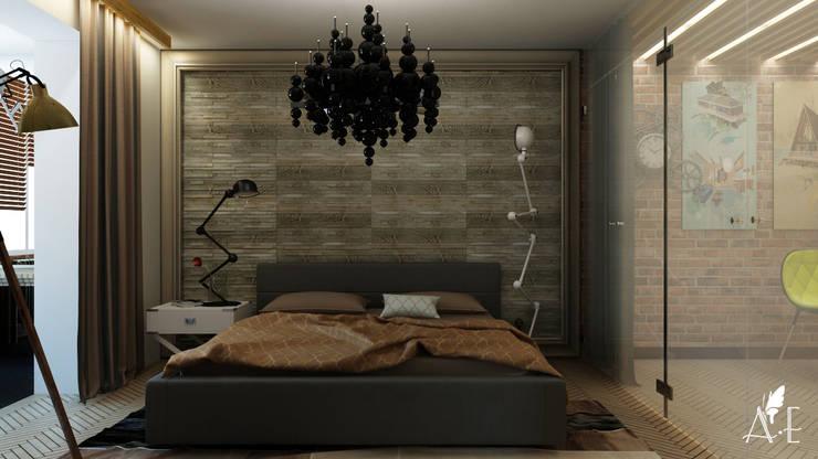 Проект интерьера квартиры 60 м2: Спальни в . Автор – Apolonov Interiors