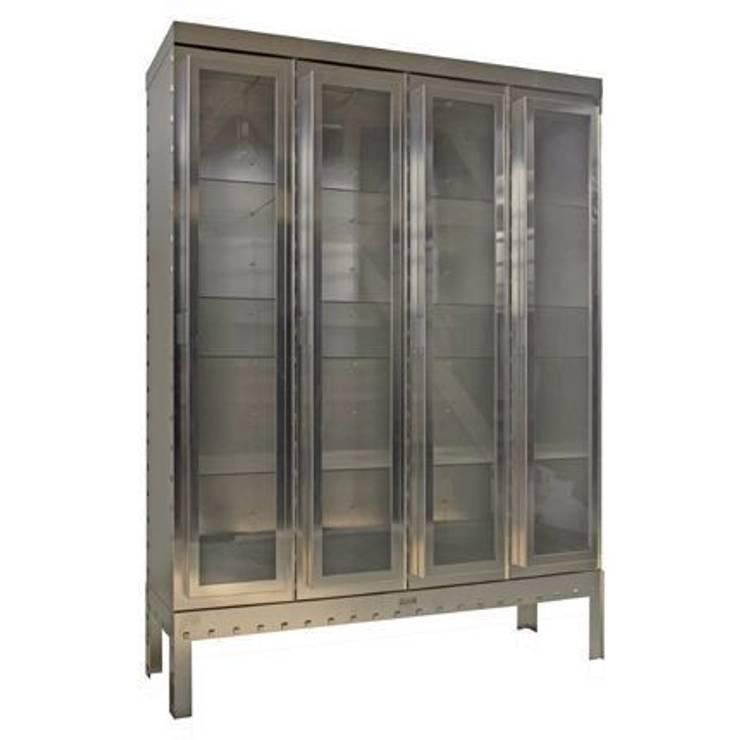 Display cabinet Steel/ Vitrinekast Staal :   door Blok Meubel, Industrieel