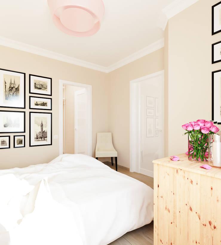 Квартира для девушки: Спальни в . Автор – Иван Урека, Скандинавский