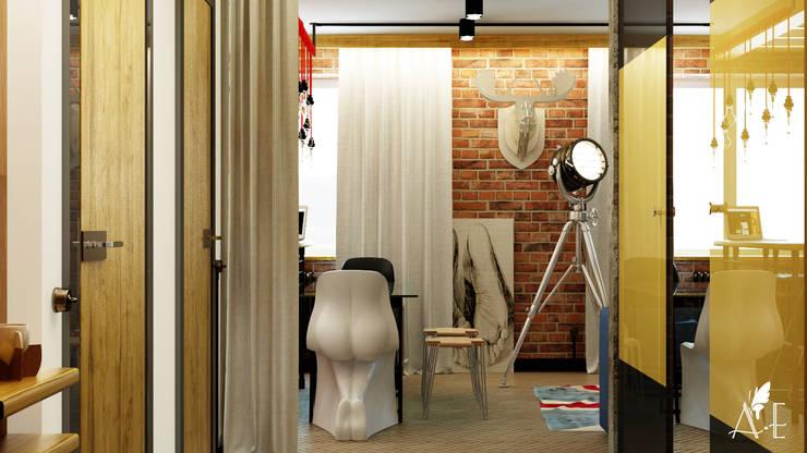 Проект интерьера квартиры 60 м2: Гостиная в . Автор – Apolonov Interiors