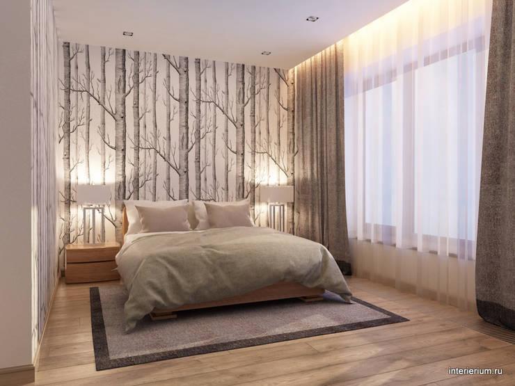 Дом в лесу: Спальни в . Автор – INTERIERIUM