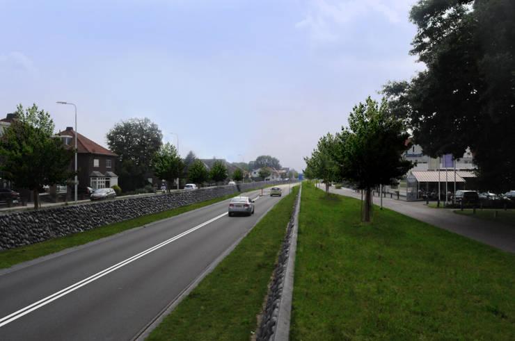 Geluidswerende voorziening Graafseweg, Wijchen.:   door Buro Topia stads- en landschapsontwerp