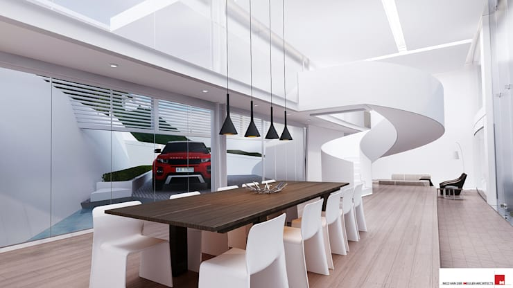House Mat :  Dining room by Nico Van Der Meulen Architects